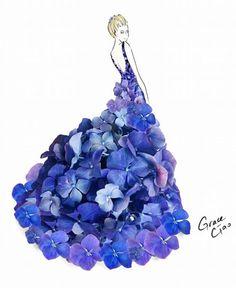 Ngất ngây với những chiếc váy làm từ hoa và rau xà lách