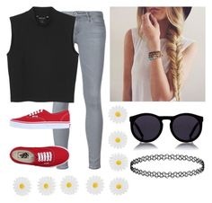 """""""Untitled #160"""" by nerdgirl070 ❤ liked on Polyvore featuring Le Specs, Monsoon, Monki and Vans"""