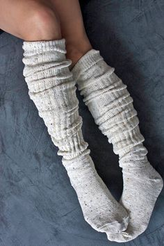 Do you wear high top boots? These boot socks look so snuggly I think I would just wear them around the house in the winter - no boots needed. Mode Style, Style Me, High Top Boots, High Socks, Tall Socks, Lehenga, Cozy Socks, Slouch Socks, Women's Socks