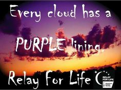 Every cloud has a Purple lining