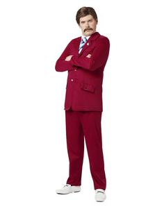 Anchorman Ron Burgundy Adult Costume  Could totally make this. Hello goodwill!