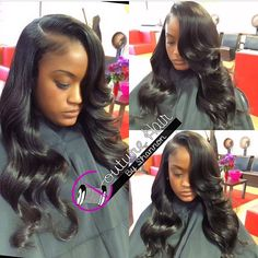 STYLIST FEATURE| Partial sew in with soft curls➰➰➰ installed by #BaltimoreStylist @CoutureHair4911 Her hair is silked to perfection ❤️ Love that deep side part, so glamorous #VoiceOfHair ========================= Go to VoiceOfHair.com ========================= Find hairstyles and hair tips! =========================