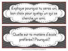 30 Sujets d'écriture pour la rentrée scolaire - Back to School Writing Prompts Document, Prompts, Science, French, Teaching, Writing, Portrait, Daily Scripture, Topics For Writing