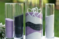 Black, Purple and White Crystal Sand Combo adds a touch of glossy and softy look to your centrepieces.