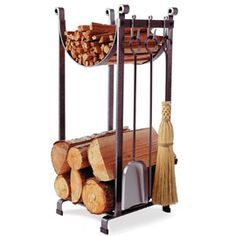 Sling Rack With Tools Store an evening's worth of firewood in just a small space!