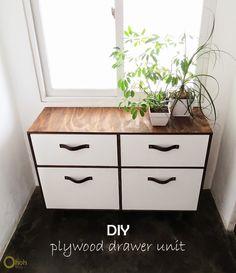 Ohoh Blog - diy and crafts: DIY drawer unit #plywood #furniture #tutorial