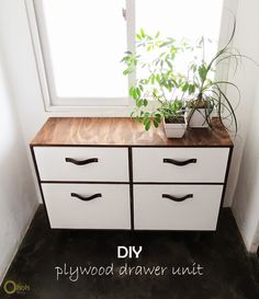 Ohoh Blog - diy and crafts: DIY drawer unit #plywood #furniture #tutorial