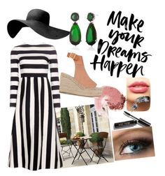 striped summer by marhay-ini on Polyvore featuring polyvore fashion style Valentino Chloé Belk & Co. LASplash NARS Cosmetics Bobbi Brown Cosmetics clothing