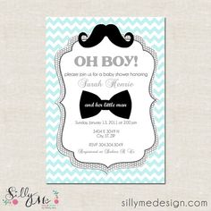 Little Man Custom Baby Shower Invitation Bridal by sillymedesign, $15.00