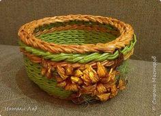 Поделка изделие Плетение наборчик зелененький Трубочки бумажные фото 7