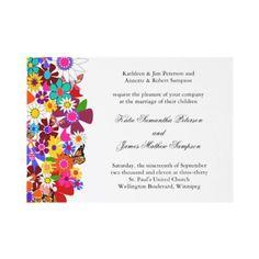 Spring Wedding Invitation $1.50 per invite. This one's so pretty! #customized #weddings #personalized #bridal