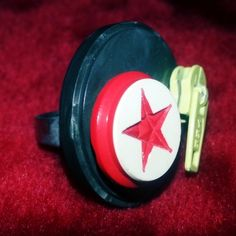 anello vintage con bottoni - 4€