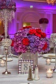 Centros de Mesas para bodas | Decoración con Colores Purpura | Vestidos de novia 2016 - 2017 | Somos Novias