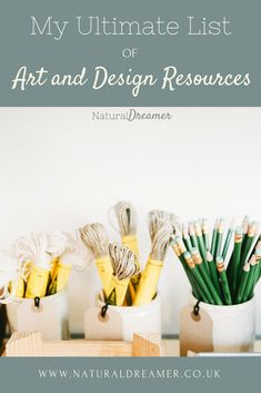 My Ultimate List of Art and Design Resources | Resources for Designers | Natural Dreamer