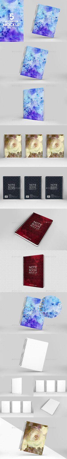 Notebook Mockup Vol 2 - Product Mock-Ups Graphics