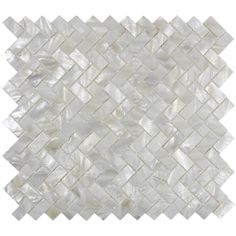 White Herringbone Pearl Shell Tile - Subway Tile Outlet: Found at https://www.subwaytileoutlet.com/