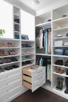 Tips and tricks to keep in mind when building your dream closet. My mast Master Closet Tour – Mika Perry. Tips and tricks to keep in mind when building your dream closet. My master closet tour. Closet organization tips. Small Master Closet, Master Closet Design, Make A Closet, Walk In Closet Design, Master Bedroom Closet, Closet Designs, Master Closet Layout, Closet Redo, Closet Renovation