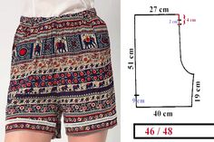 Check Out These Outstanding DIY Skirt Ideas and How to do them Sewing Shorts, Sewing Clothes, Diy Clothes, Dress Sewing Patterns, Sewing Patterns Free, Clothing Patterns, Fashion Sewing, Diy Fashion, Como Fazer Short
