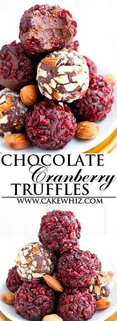 These easy CHOCOLATE These easy CHOCOLATE CRANBERRY TRUFFLES are...  These easy CHOCOLATE These easy CHOCOLATE CRANBERRY TRUFFLES are really simple to make with 3 ingredients only! Great as a snack or homemade gift during the Christmas holidays! {Ad} From cakewhiz.com Recipe : http://ift.tt/1hGiZgA And @ItsNutella  http://ift.tt/2v8iUYW