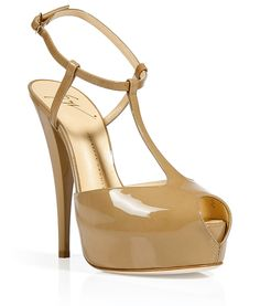 Tan Patent Leather Platform Sandals - Giuseppe #Zanotti...