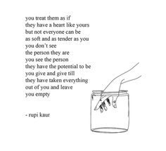 Leave you empty