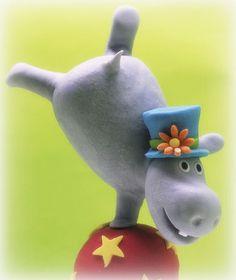 Balancing Hippo Figu