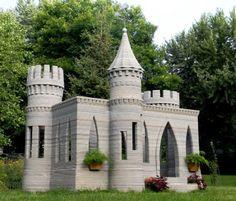 Un château-cabane en impression 3D de béton