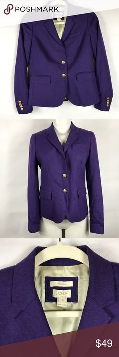 "Gap Purple Schoolboy Blazer Size 0 Coat Jacket Gap Purple Schoolboy Blazer Size 0 Coat Jacket Career Work Wear Casual  Item Description/Specifics: • Pre-owned, item is gently used • Size: 0 • 2 Button front • Shoulder to shoulder: 14"" unstretched • Sleeve length: 23.25"" unstretched • Armpit to armpit: 16.5"" unstretched • Waist: 15.25"" unstretched • Length: 23.5"" unstretched • Back slit: 5.5"" unstretched  Stock#: NB GAP Jackets & Coats Blazers"