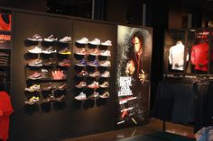 Retail fixture with fabric frame light box. . change the graphics with every new line!