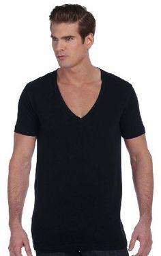Canvas Stylish Extra Deep V-Neck T-Shirt...