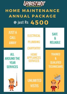 Looking for Home Maintenance Services in your area? Namma Urbistant is here! Through Our Annual Home Maintenance Package Get Unlimited services at Just Rs 4500 all throughout the year. For more details Call Urbistant 9025352535 or book via www.urbistant.com/booking Package covers #electrical #plumbing #carpentry #homeappliances #repair #services #OddJobsPeople #Convenience #NammaUrbistant Namma chennai #Chennai #iLoveLazy #UrbanLife #Stressfree