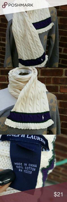 Ralph Lauren cable scarf No conditioner shoes. As shown Ralph Lauren Accessories Scarves & Wraps