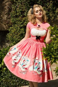 Pinup Couture  50s Pink Evelyn Swing Dress 102 29 16089 1