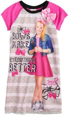 Jojo Siwa Girls 4-10 JoJo Siwa Bows Make Everything Better Knee-Length Dorm a141564b2