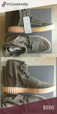 Yeezy boost 750 Chocolate Brand new in box , all original , comes with receipt . Only few available Adidas Shoes Athletic Shoes