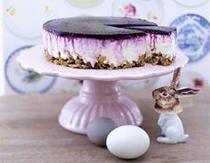 Blueberry-Cream-Cheesecake mit Crunchy-Boden Rezept