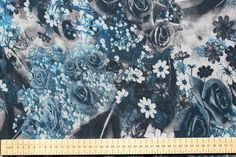 SALE!!! Transfer Stormy Rose Print Chiffon Dress Fabric Material (3 Colour-ways) in Crafts, Fabric | eBay