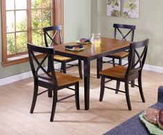 concepts 30 by 48inch dining table with xback chairs set