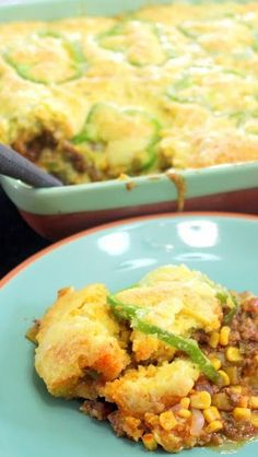 Taco Corn Bread Casserole - This is a very easy to make classic...a pound of hamburger, some seasonal vegetables (or frozen and canned), a package of TACO Seasoning and a couple of boxes of Jiffy Corn Muffin Mix. The classic casseroles are always the best!