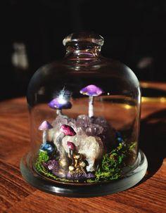 Terrarium z magiczną krainą - Milo-maluje - Dekoracje