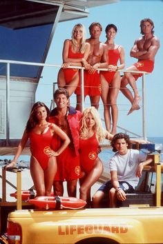Pamela Anderson, is almost unrecognisable as she steps-out at Cannes Film Festival Guinness, Baywatch Tv Show, Billy Warlock, Yasmine Bleeth, 90s Tv Shows, Joey Tribbiani, Malibu Beaches, One Piece, Red Swimsuit