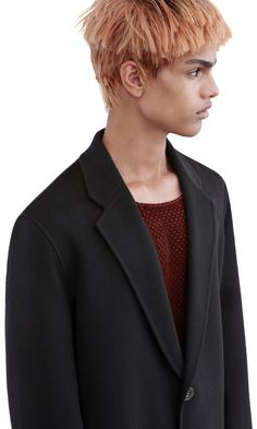 Acne Studios Charles black Double wool cashmere coat