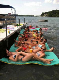 Aqua Lily Pad, Floating Water Mat, Lake Toys This would be super nice to have at the lake