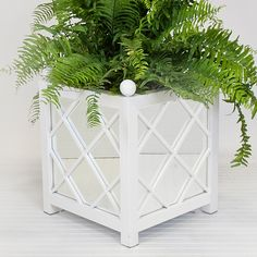 Worlds Away Largo White Indoor/Outdoor Planter @Layla Grayce #givemomstyle