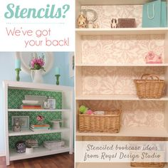 Stenciling and Pattern Ideas for Bookcases and Cabinets | Royal Design Studio