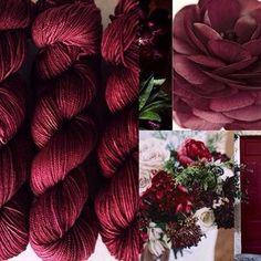 """Sunrise Yarn Co. Club """"Ranunculus"""" (the exclusive December 2015 Yarn Club colorway)"""