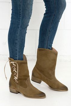 MTNG 94377 Serraje Camel Suede Leather Mid-Calf Boots at Lulus.com!
