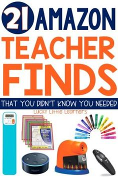Teachers love a good find.  Teachers also love Amazon.  Hello 2 day shipping!  Let's put those two loves together and compile a list of 21 Amazon Teacher Finds that you didn't know you needed.  Even better, I will explain why you need them for your classroom.  Be ready to be amazed!  This post includes crayon sharpeners, wireless doorbells, scoop rockers, and more!