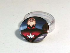 """Comic Book 1.5"""" Button// Irredeemable// The Plutonian, $1.00"""