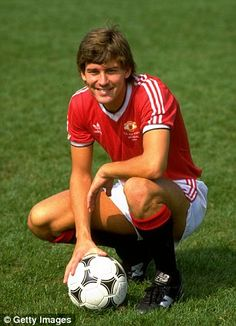 Bryan Robson in Manchester United colours